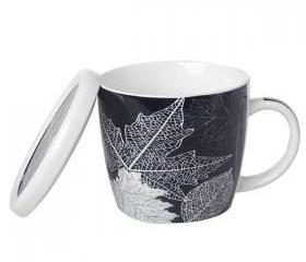 Leaf Print Coffee Mug