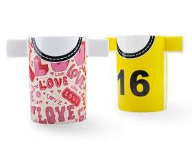 Couple Cups Set with T-shirt Print 02