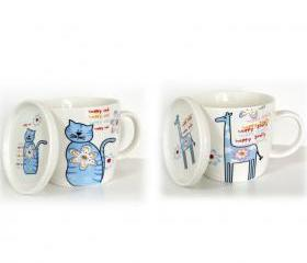 Cute Animal Print Couple Cups