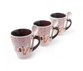 Cute Coffee Mugs with Spoon for Family