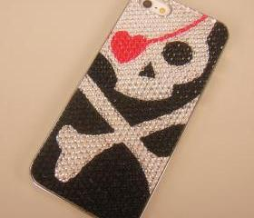 Red Heart Eye Skull Case for iPhone 5